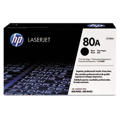 HP 80A, (CF280A) Black Original LaserJet Toner Cartridge