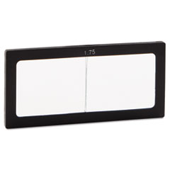 """Magnifier Lens, 2"""" x 4 1/4"""", Glass, 1.75 Diopter"""