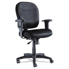 Wrigley Series Mesh Mid-Back Chair, Black ALEWR42BME10B