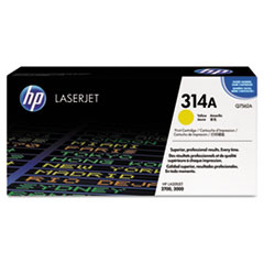 HP 314A, (Q7562A) Yellow Original LaserJet Toner Cartridge