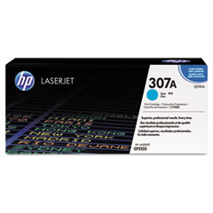 HP 307A, (CE741A) Cyan Original LaserJet Toner Cartridge