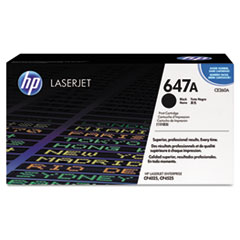 HP 647A, (CE260A) Black Original LaserJet Toner Cartridge