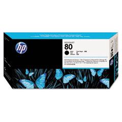HP 80, (C4820A) Black Printhead & Cleaner