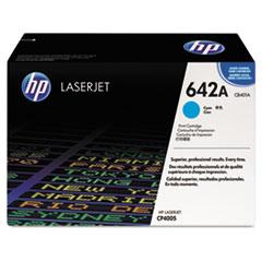 HP 642A, (CB401A) Cyan Original LaserJet Toner Cartridge