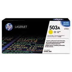 HP 503A, (Q7582A) Yellow Original LaserJet Toner Cartridge