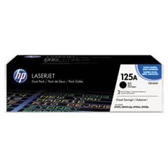 HP 125A, (CB540A-D) 2-pack Black Original LaserJet Toner Cartridges