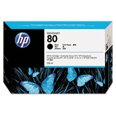 HP 80, (C4871A) Black Original Ink Cartridge
