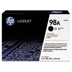 HP 98A, (92298A) Black Original LaserJet Toner Cartridge