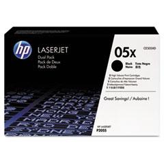 HP 05X, (CE505X-D) 2-pack High Yield Black Original LaserJet Toner Cartridges