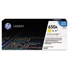HP 650A, (CE272A) Yellow Original LaserJet Toner Cartridge