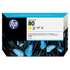 HP 80, (C4873A) Yellow Original Ink Cartridge