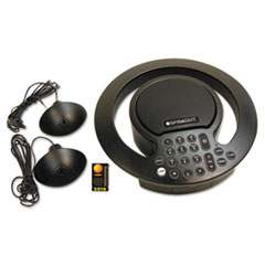 Aura SoHo Plus Conference Phone, 3 Built-In/2 External Microphones, Black