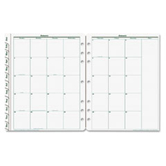 Original Dated Monthly Planner Refill, January-December, 8 1/2 x 11, 2018