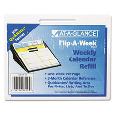"COU ** Flip-A-Week Desk Calendar Refill with QuickNotes Format, 5 5/8"" x 7"", at Sears.com"