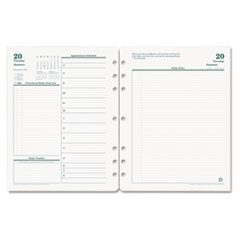 Original Dated Daily Planner Refill, January-December, 8 1/2 x 11, 2018