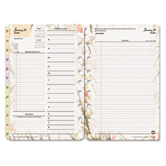 Blooms Dated Daily Planner Refill, January-December, 5 1/2 x 8 1/2, 2017