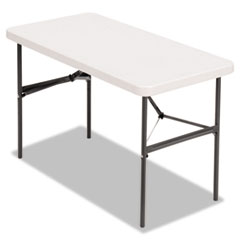 Banquet Folding Table, Rectangular, Radius Edge, 48 x 24 x 29, Platinum/Charcoal