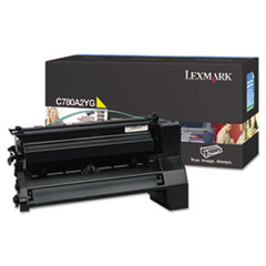 C780A2YG Toner, 6000 Page-Yield, Yellow