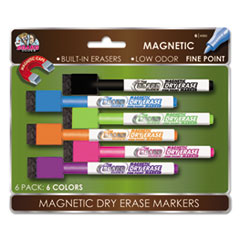 SRX Magnetic Dry Erase Markers, 6/Pk BDU4560VA12