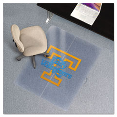 Collegiate Chair Mat for Low Pile Carpet, 36 x 48, Tennessee Lady Volunteers