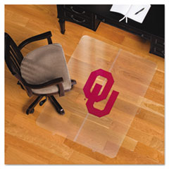 Collegiate Chair Mat for Hard Floors, 36 x 48, Oklahoma Sooners