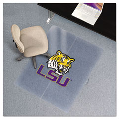 Collegiate Chair Mat for Low Pile Carpet, 36 x 48, Louisiana State Tigers ESR501710