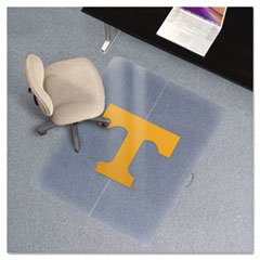 Collegiate Chair Mat for Low Pile Carpet, 36 x 48, Tennessee Volunteers