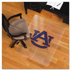 Collegiate Chair Mat for Hard Floors, 36 x 48, Auburn Tigers