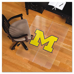 Collegiate Chair Mat for Hard Floors, 36 x 48, Michigan Wolverines