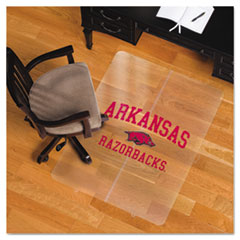 Collegiate Chair Mat for Hard Floors, 36 x 48, Arkansas Razorbacks