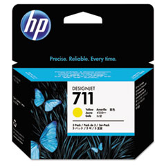 HP 711, (CZ136A) 3-pack Yellow Original Ink Cartridges