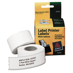 Thermal Printer Labels, Address, 1-1/8 x 3-1/2, White, 260 Labels/Box
