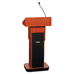 Executive Adjustable Sound Column Lectern, 21w x 15d x 46-1/2h, Mahogany