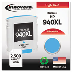 Remanufactured C4907AN (940XL) High-Yield Ink, Cyan