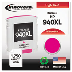 Remanufactured C4908AN (940XL) Ink, 1400 Page-Yield, Magenta