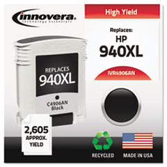 Remanufactured C4906AN (940XL) Ink, 2200 Page-Yield, Black