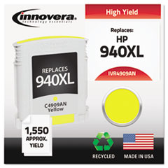 Remanufactured C4909AN (940XL) Ink, 1400 Page-Yield, Yellow