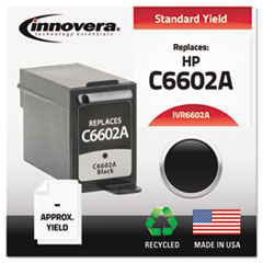 Remanufactured C6602A Ink, 500 Page-Yield, Black