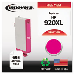 Remanufactured CD973AN (920XL) High-Yield Chipped Ink, Magenta