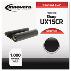 UX15CR Compatible, Remanufactured, UX15CR Thermal Transfer, 1000 Yield, Black