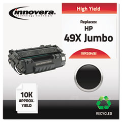 Remanufactured Q5949X(J) (49J)  Toner, 10000 Yield, Black