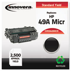 Remanufactured Q5949A(M) MICR Toner, 2500 Yield, Black