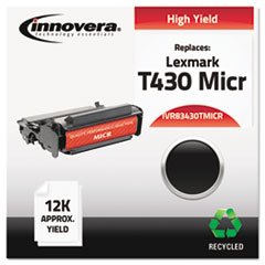 83430TMICR Remanufactured, 12A8325(M) (T430) MICR Toner, 12000 Yield, Black