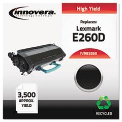 Remanufactured E260A21A (E60D) Toner, 3500 Yield, Black