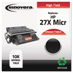 Remanufactured C4127X(M) (27XM) High-Yield MICR Toner, Black - Compatible