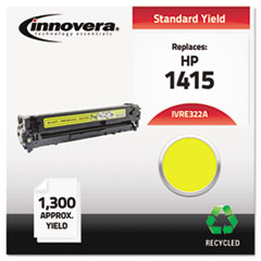 Remanufactured CE322A (128A) Laser Toner, 1300 Yield, Yellow