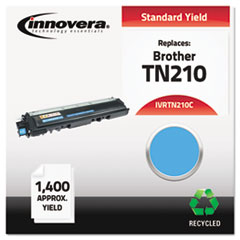 Remanufactured TN210C Toner, 1400 Page-Yield, Cyan