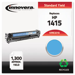 Remanufactured CE321A (128A) Laser Toner, 1300 Yield, Cyan