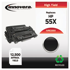 Remanufactured CE255X (55X) High-Yield Toner, Black