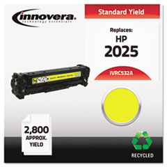 Remanufactured CC532A (304A) Toner, 2800 Yield, Yellow